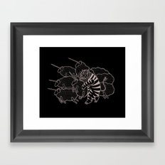 On why this variation of baby angora unicorns went extinct  Framed Art Print