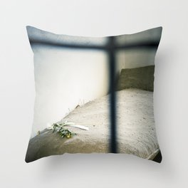 Jail Cell : Sachsenhausen Concentration Camp, Oranienburg, Germany. Throw Pillow
