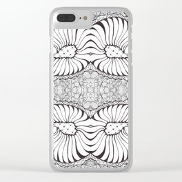Black and White Zen Doodle Clear iPhone Case