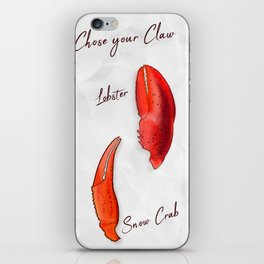 Chose your Claw, Crab vs Lobster iPhone Skin