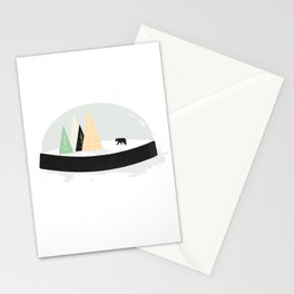 Snow covered tracks Stationery Cards