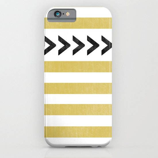 ARROW STRIPE {MUSTARD} iPhone & iPod Case
