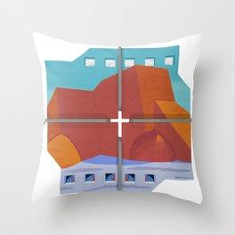 Rancho De Taos Church Throw Pillow