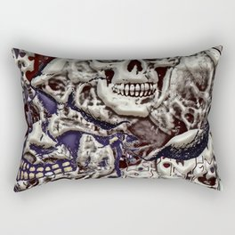 Skulls a plenty Rectangular Pillow