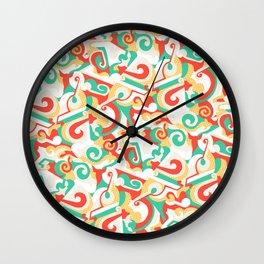 Fraktur Wall Clock