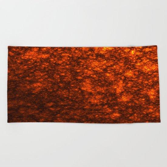 Molten Lava Beach Towel