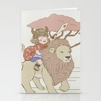 onward Stationery Cards featuring Onward Feline Steed! by PaperPanda Books