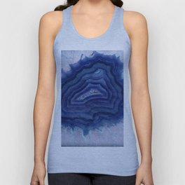 Blue agate crystal's Unisex Tank Top
