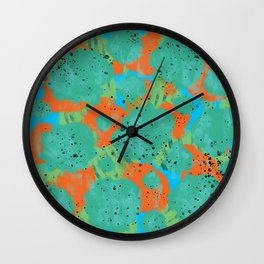 Digital Colorful Abstract Art Pattern Wall Clock