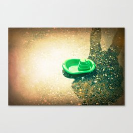 Puddle Sailor Canvas Print