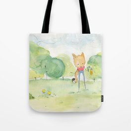 Fox in the park Tote Bag