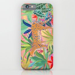 Leopard in Succulent Garden iPhone Case