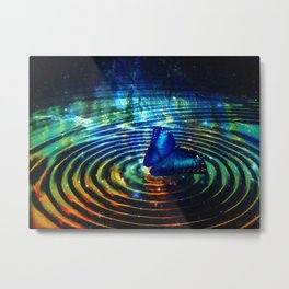 The Butterfly Effect in Blue Metal Print