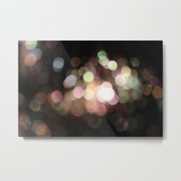 Bubbly Bokeh Metal Print