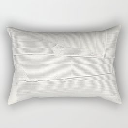 Relief [1]: an abstract, textured piece in white by Alyssa Hamilton Art Rectangular Pillow