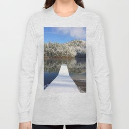 Snowy pier Long Sleeve T-shirt