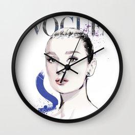 Vogue Fashion Illustration #17 Wall Clock