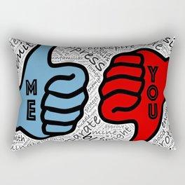 ME / YOU Rectangular Pillow