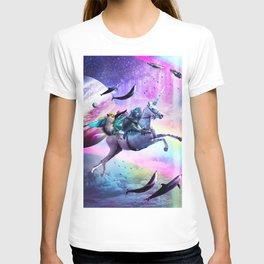 Bearded Dragon Frog Squirrel On Rainbow Unicorn T-shirt