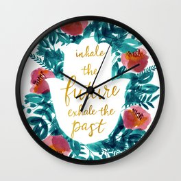 Inhale the Future in Blue Wall Clock