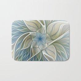 A Floral Dream, Abstract Fractal Art Bath Mat