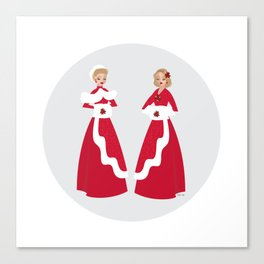 White Christmas #1 Canvas Print