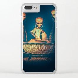 Alien Abduction Alien Autopsy Clear iPhone Case