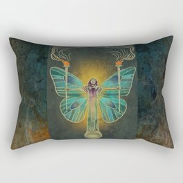 Keeper Of The Ancient Flame Rectangular Pillow