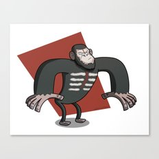 Caesar - Dawn of the Planet of the Apes Cartoon Canvas Print