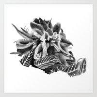 cannabis Art Prints featuring cannabis flower by potshoppe