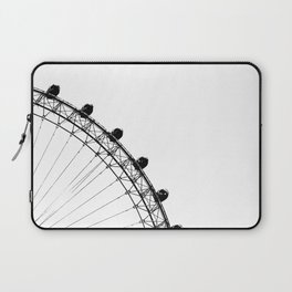 The Ferris Wheel (Black and White) Laptop Sleeve