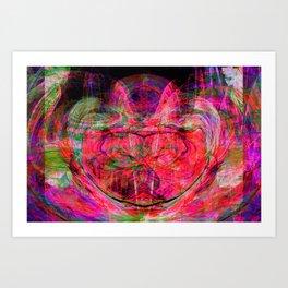 Chaos Face- Electric Pink Art Print