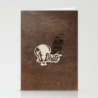 pirate Stationery Cards featuring Pirate by Tony Vazquez