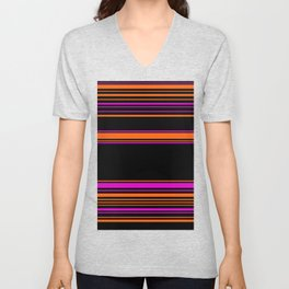 Halloween with style - elegant stripes in holiday colors Unisex V-Neck