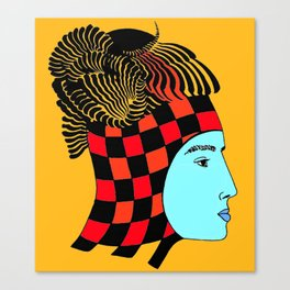 The Checkered Lady Canvas Print