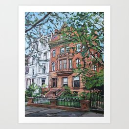 Ft. Greene Brooklyn Historic Brownstone Art Print