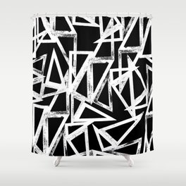 stamp triangle Shower Curtain