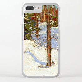 Tom Thomson Snow in the Woods c. 1912-1913 Canadian Landscape Artist Clear iPhone Case