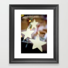 Christmas Stars Framed Art Print