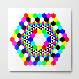 Hexagon Donut Metal Print