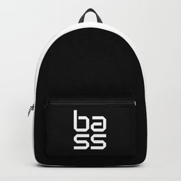 Bass Block Music Quote Backpack