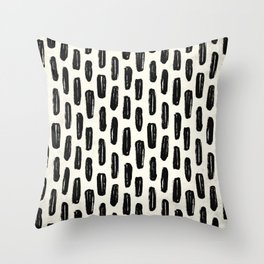 Ivory Vertical Dash Throw Pillow