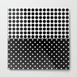 Black and white polka dot .3 Metal Print