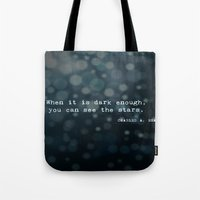 quotes Tote Bags featuring Quotes by Kayla Phan