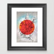 red alert tigers Framed Art Print