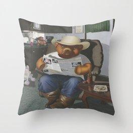 Redneck Teddy Throw Pillow