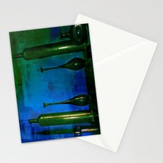glass is green Stationery Cards