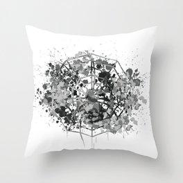 Halloween spider web Throw Pillow