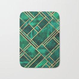 Emerald Blocks Bath Mat