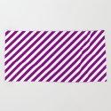 Diagonal Stripes (Purple/White) by 10813apparel